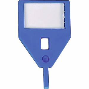 Porte-clés de rechange KR-A, bleu, emb. de 10 pcs.
