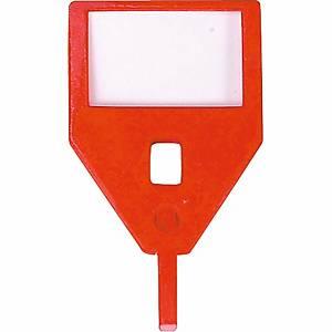 Porte-clés de rechange KR-A, rouge, emb. de 10 pcs.