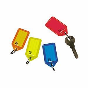 Étiquette à clés Key Tags, assort., paq. 4unités