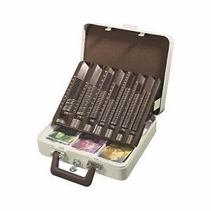 Cassetta portavalori Argenta 7CC-CH divis. monete incl., divis. bancon. 3 scomp.