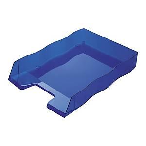 Briefkorb Styrofile, C4, blau transparent