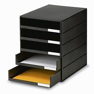 Système à tiroirs Styroval Oeko, 16-8001, 5tiroirs, noir
