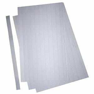 Bandes de carton BoOffice, largeur 17 mm, lot de 3 feuilles A4, blanc