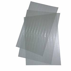 Kunststoffstreifen 20 mm Set à 3 A4-Bogen, glasklar