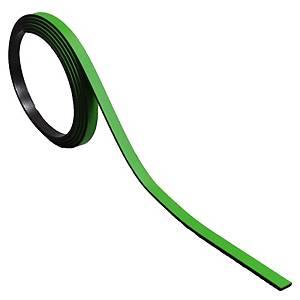 Bande magnétique pour tableaux BoOffice 5x1000 mm, vert