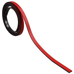 Bande magnétique pour tableaux BoOffice 5x1000 mm, rouge