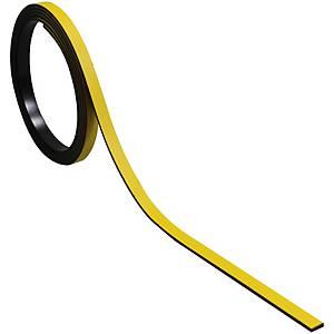 Bande magnétique pour tableaux BoOffice 5x1000 mm, jaune