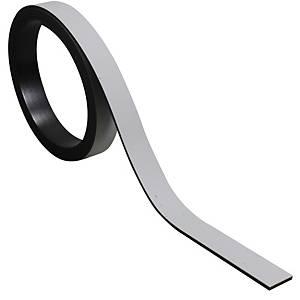 Bande magnétique pour tableaux BoOffice 10x1000 mm, gris