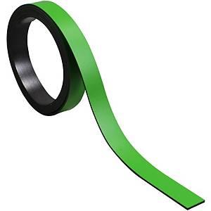 Bande magnétique pour tableaux BoOffice 10x1000 mm, vert