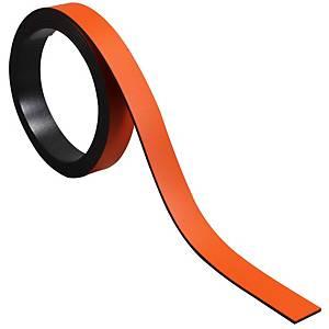Bande magnétique pour tableaux BoOffice 10x1000 mm, orange