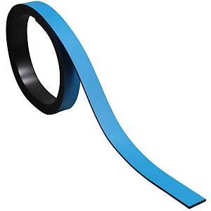 Bande magnétique pour tableaux BoOffice 10x1000 mm, bleu
