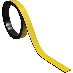Bande magnétique pour tableaux BoOffice 10x1000 mm, jaune