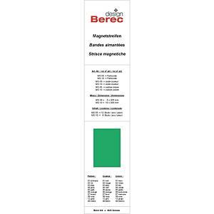 Bandes magnétiques Berec design, 10x300 mm, vert, emb. de 6 pcs (MS10)