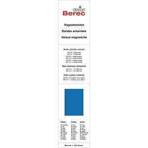 Bandes magnétiques Berec design, 10x300 mm, bleu, emb. de 6 pcs (MS10)
