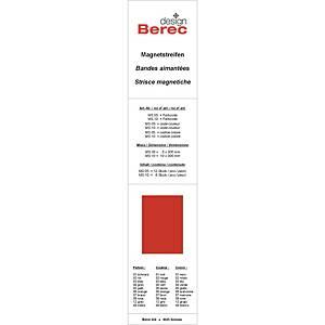 Bandes magnétiques Berec design, 10x300 mm, rouge, emb. de 6 pcs (MS10)