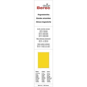 Bandes magnétiques Berec design, 10x300 mm, jaune, emb. de 6 pcs (MS10)