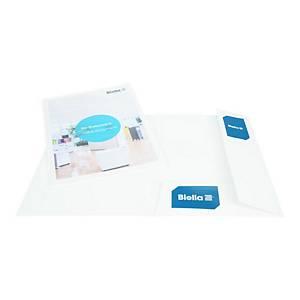Dossier présentation Biella Pearl 2, A4, avec poch. transp., blanc