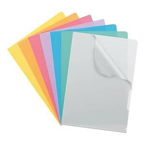 Dossiers-chemises Kolma A4 haute transparent, assort. emb. de 100 pcs (5946419)
