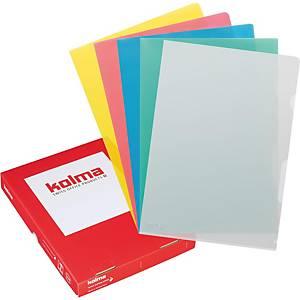 Dossier transparent Kolma Visa Dossier, A4, PP, assort., paq. 100unités