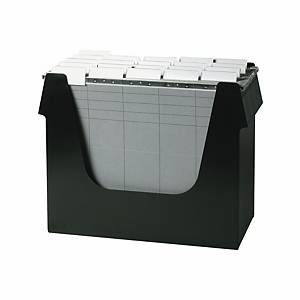 Boîte à dossiers suspendus Ornalon, l360 x P160 x H272 mm, noir