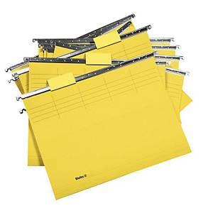 Dossier suspendu Biella Original 271255 25 cm de profondeur, jaune, 25unités