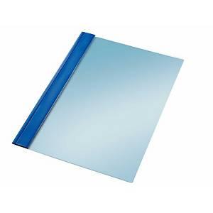 Pack 10 pastas com fixador metálico Esselte - fólio - PVC - 150 folhas - azul