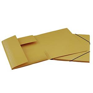 Gummizugmappe Erola 33299 A4, Presspan 650 g/m2, gelb