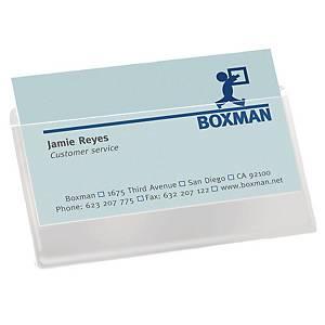 Pochette pour cartes de visite 3L, 95 x 60 mm,ouv. par le haut,100unités