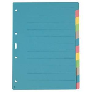 Répertoire A4, carton 200 g/m2, 12 pièces, couleur