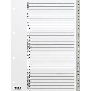 Répertoire Kolma 1831403 A4, PP, 1-31, gris