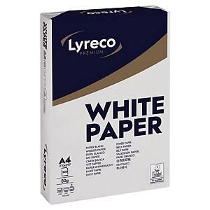 Papier photocopieur Lyreco Premium A4, 80g/m2, blanc, 1/2 palette 50 000flles