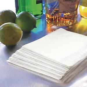 Serviette Duni en ouate - 2 plis - 24 x 24 cm - blanche - paquet de 300