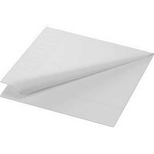 Paquete 300 servilletas de papel - 2 capas - 240 x 240 mm - blanco