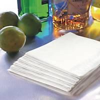 Servett Duni, 2-lagers, 24x24 cm, vit, förp. med 300st.