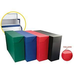 Caja de transferencia Mariola - folio doble fondo -  cartón - azul