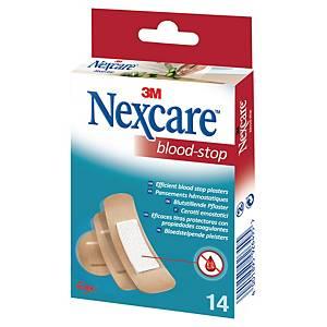 Pflaster Nexcare Blood Stop N1714AS, verschiedene Größen, beige, 14 Stück
