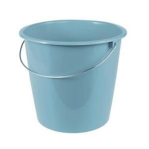 Wischeimer mit Drahtbügel, Fassungsvermögen: 10 Liter, blau
