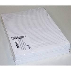 Papier ministre ligné, A4, 80 g, le paquet de 240 feuilles