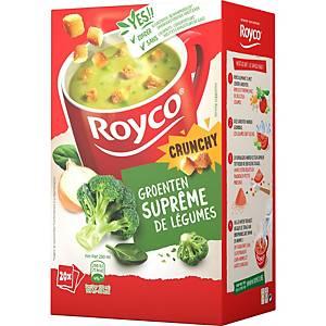 Royco Crunchy Suprême de Légumes, la boîte de 20 sachets