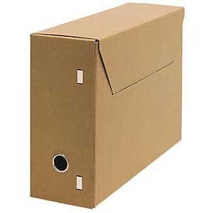 Boîte d'archives format folio, dos 115 mm, carton sans chlore 650 g, la boîte