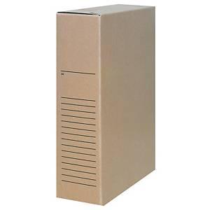 Boîte d'archives A4, dos 8 cm, carton sans acide et sans chlore 650 g, brune, 1x