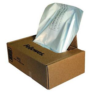 Sacs poubelle Fellowes 36055 pour broyeur papier, 165 litres, le paquet de 50