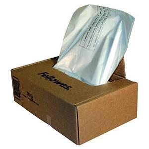 Fellowes 36055 afvalzakken voor papiervernietiger 165 liter - pak van 50
