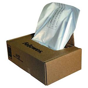 Sacs poubelle Fellowes 3605801 pour broyeur papier, 143 litres, le paquet de 50