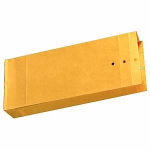 Musterbeutel 100 x 245 x 40mm, Stehboden + Seitenfalten, 120g, braun, 250 Stück