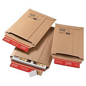 Versandtasche Colompac CP10.04, Wellpappe, A4+, Außenmaße 250x351mm, 80g, braun