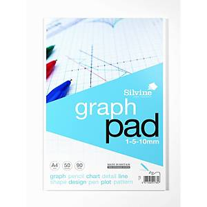 Cambridge Everyday A4 Notepad Pad Graph Refill Pad - Pack of 5