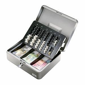 Cassetta portavalori Moneta Basic, metallo, argento