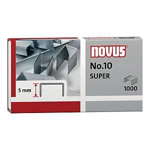 Zszywki NOVUS Nr 10, w opakowaniu 1000 sztuk