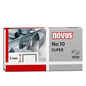 Caixa 1000 agrafos galvanizados Novus n.º 10